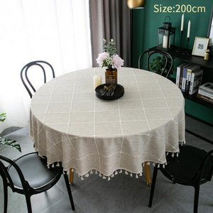 Table Cloth Multifunctional Easy Clean Washable Round Restaurant Home Kitchen Dining Room Nordic Style Modern Practical El