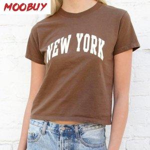 York Print Cotton T Shirt Women Summer Casual Short Sleeve O Neck Woman Tshirts Vintage Streetwear Y2k Tee Tops 2021 Women's T-Shirt