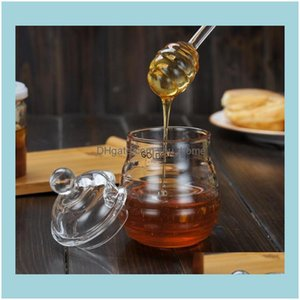 Other Kitchen Kitchen, Dining Bar Home & Garden 15Cm Clear Glass Stirrers Spoon Stick For Honey Jar Collect And Dispense Tools Nt Dipper Hon
