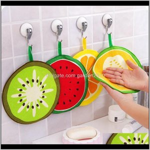 Lovely Fruit Print Hanging Kitchen Hand Towel Microfiber Quick-Dry Cleaning Rag Dish Cloth Wiping Napkin Wb2787 Cnsm4 Fbhkd