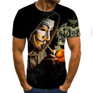T-shirt Magic Clown Fun et T-shirt Femme Summer 3D Impression Beatle Sweat-shirts pour enfants T-shirts