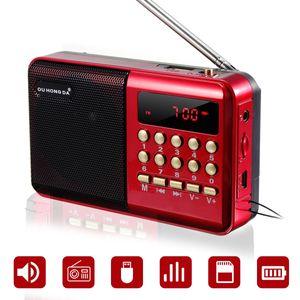 Mini Portable Radio Handheld Digital FM USB TF MP3 Player Speaker Rechargeable