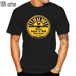 boys tee New Sun Record Logo Rock N Roll Music Black T-shirt Size S M L Xl 2xl 3xl Short Sleeve Mens Formal ShirtsChildren's clothingChildre