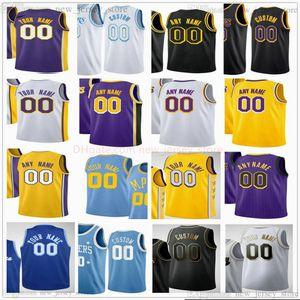 Benutzerdefinierte 2021 Gedruckt Basketball James Rajon Alex 9 Rondo 4 Caruso Quinn Javale Cook 7 McGee Caldwell-Papst Jared 11 Avery 10 Dudley Trikots