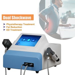 mini home use Portable 2 in 1electromagnetic shock wave therapy equipment dual interface for back pain relief and ed