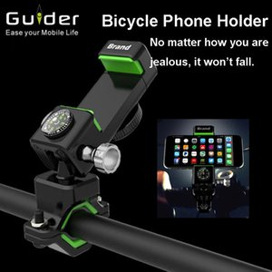 Ride Waterproof Navigation Frame Multi-function MTB Road Bicycle Mobile Phone Bracket Shelf Clip Compass With LED Lamp Bike Lights