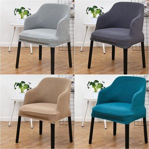 Jacquard Chair Cover High Sloping Armchair Slipcover Elastic Polar Fleece Washable Dining Chairs Covers Office Home Party