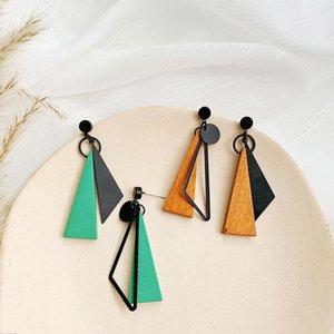 Korean Long Statement Geometric Triangle Tassel Dangle Drop Earrings For Women Earring Fashion Jewelry Oorbellen Brincos