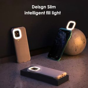 Selfie Lamp Phone Case with Beauty LED Flash Light for iPhone 12 mini Pro Max Mobile Phones Back Cover Cases