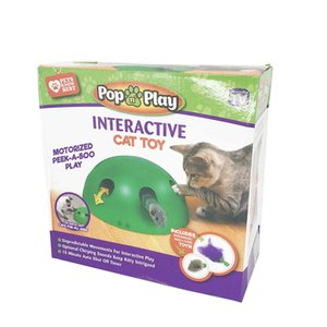Cat Supplies Juguetes POP N PLAY HACER SONIDO PARA TEAR CENTRANDO MOUTE VIDEO GAMEH0T9