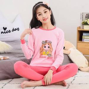 Pajamas Children's Sleepwear Baby Girl Clothes Suit Long Sleeve Cotton Pijamas Girls Pajama Sets Kids Pyjamas Cartoon For Teens
