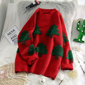 Sweaters christmas Ladies clothing printing tree new autumn and winter fashion Japanese student sweater jacquard