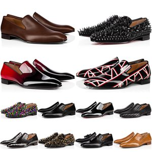 2021 Top Fashion Brand Red Bottoms Men Women Dress Shoes Spikes Sneakers Suede Black White Offf Leather Designers Mens Trainers Luxury Loafers Size 36-47