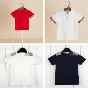 Summer Baby Boys Girls T-shirts Cotton Designer Boy Short Sleeve T Shirt Children Plaid T-shirt Kids Clothes
