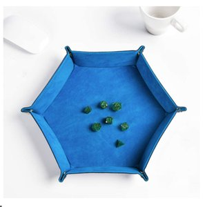 Home Storage Boxes Bins folding hexagonal desktop dice game tray living room porch furniture