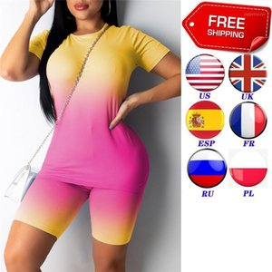 Sets Womens Outfits Women Sports Suit Tops + Shorts Workout Clothes Tracksuit Summer Outfit Ladies Casual 2 Piece Set1
