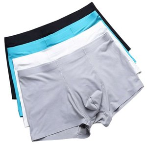 Man Breathable Mesh Nylon Underpants One Piece Men Underwear Ice Silk Boxers Seamless