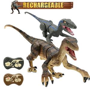 2.4G RC Dinosaur Intelligent Raptor Animal Remote Control Dinosaur Toy Electric Walking Animals Cat Toys For Children Gift
