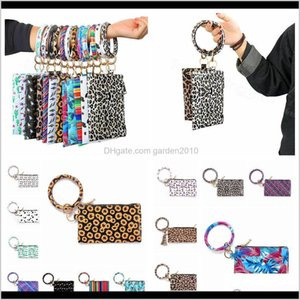 Favor Event Festive Party Supplies Home & Garden Drop Delivery 2021 Bracelets Bangle Keychian Leopard Hang Wallet Key Ring Bracelet For Women