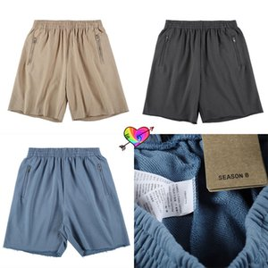 2021 Zipper Pockets Shorts Men Women 1 High Quality Solid Terry Cotton