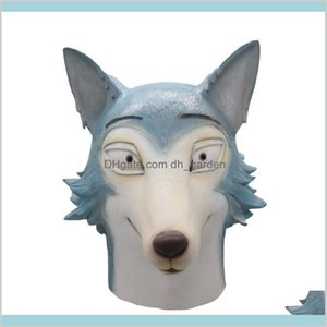 Festive Party Supplies Home Garden Anime Beastars Shi The Wolf Face Mask Cosplay Animal Latex Masks Props Drop Delivery 2021 Aektr