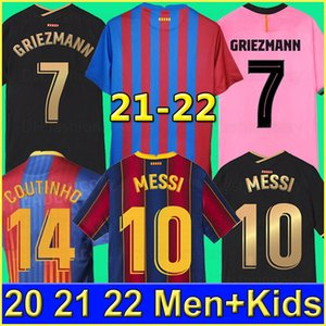 20 21 FC BARCELONA camiseta de fútbol 2020 2021 BARCA ANSU FATI Messi GRIEZMANN DE JONG ANSU FATI PJANIC COUTINHO soccer Jerseys de fútbol hombres +niños camisa de futebol