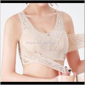 Front Cross Side Buckle Wireless Lace Bra Breathable Sport For Women Towel Boqbx N5Fcd