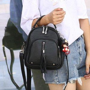 Shoulder Bag Female Backpack European Trend Portable Station 2021 Casual Leather Messenger 9777-1 All-match New Qeftc