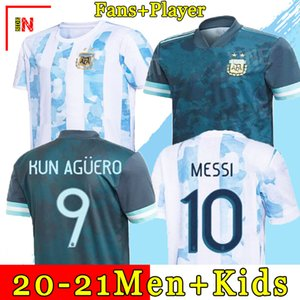 Футбольная форма Аргентины для фанатов и игроков версия 2021 Copa America MESSI DYBALA AGUERO футбольная форма мужская + детская комплекты формы 20 21