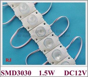 LED-Lichtmodul mit Linse für Beleuchtungskästen Rückenbeleuchtung DC12V 45mm * 30mm SMD 3030 1.5W 100pcs / lot wasserdicht IP65 CE ROHS
