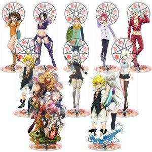 1 Pcs Anime the Seven Deadly Sins Toy Standing Model Plate Holder Desktop Decoration Ornaments Action Figure Toys Gift Q0421
