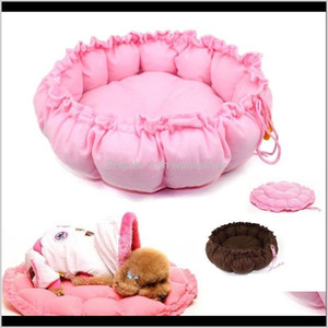 Pens Supplies Home Garden Drop Delivery 2021 Cashmere-Like Soft Warm Pet Cat Beds Kennels Expandable & Shrinkable Nest Luxury Dog Bed Round N