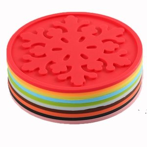 Silicone Snowflake Coasters Cup Mats Table Decoration Tea Mug Placemat Coaster Mat Pad Drinks Holders EWE6213