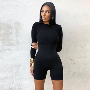 Knitted Romper Jumpsuit Gym Women Bodysuit Shorts Workout Playsuits Long Sleeve Yogaing Butt Lifting Fitness Overalls Clothes