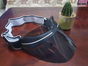 2021 상위 디자이너 바이저 업그레이드 두꺼운 브랜드 태양 모자 여름 야외 UV 선글라스 조정 가능한 크기 56-62cm