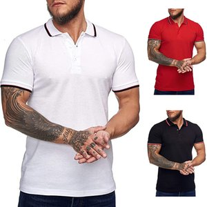 Polos 2021 Summer Menswear Abito da uomo Polo Europeo Casual T-shirt manica corta per uomo