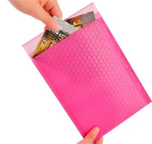 HOT 100Pc Bubble Mailers Padded Envelopes Lined Poly Mailer Self Seal Pink Shipping Envelope Waterproof bubble express Mailing Bag 549 V2