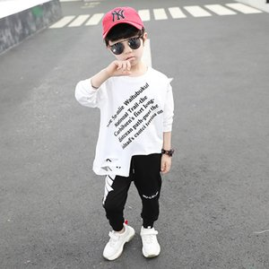 2020 new fashion letter boys T shirt long sleeve kids T-Shirt cotton hole boys shirt kids  clothes boys clothes retail B692 666 Y2