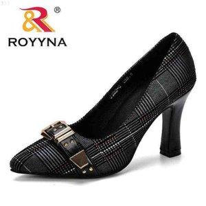 ROYYNA Women Pumps Spring & Autumn Plus Size 34-43 Fashion Elegant Pointed Toe Office Ladies High Heels Woman Trendy Shoes 210610 D2Q3HTAP