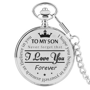 Luxury Pocket Watch Necklace English Word European and American Fashion Lettering Manufacturers Direct Sales