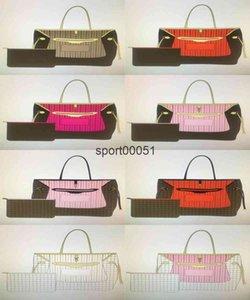 Hohe Qualität Leder Naverfulls Mode Klassische Handtaschen für Frauen Geldbörse Taschen mit Beutel Brieftasche Frau Einkaufen Umhängetasche mm GM 8 Farbe