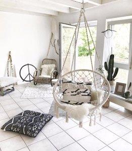 Muebles de campamento 2021 nórdico hecho a mano hecha a mano redondo hamaca al aire libre interior dormitorio bebé niños silla niños swing casa decoración