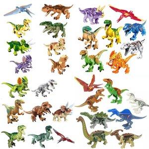 Динозавры блочного головоломки кирпичи динозавры фигуры строительные блоки детские образовательные игрушки для детей подарок детская игрушка