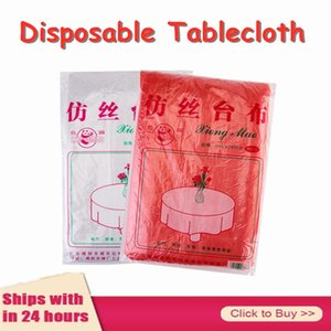 Disposable Table Covers Decorative Cloth Square Silk Tablecloth Overlays Wedding Banquet Dining Cover Year Christmas