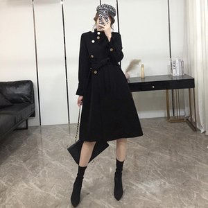 Mid-Length Windbreaker Coat Womens 2021 Spring Autumn Korean Fashion Loose Casual All-Match Trench Coats Female A313 Women's