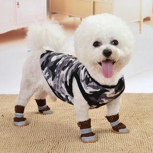 Одежда для одежды для собак Летняя собака Жилет Мультфильм Печать Щенок Одежда Мода Питание Повседневная Хлопок Куртка для ПЭТ Освещения NHC7399