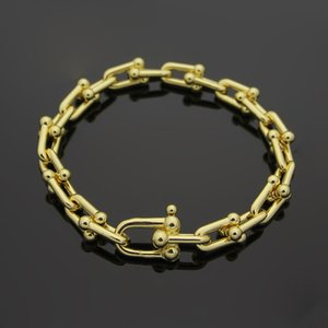 high quality Hot u-type titanium steel bracelet 18K gold rose silver bracelet with advanced gift set suitable for gifts
