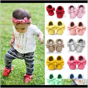 Walkers Baby, Kids & Maternity Drop Delivery 2021 Toddler Pu Leather Bowknot Born Baby Boy Girl Moccasins Shoes Fringe Soft Soled Non-Slip Cr