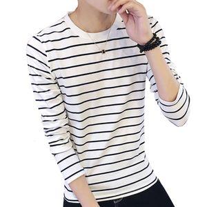 Fashion Striped T Shirt Men 2020 Autumn O Neck Long Sleeve Men's T Shirt Casual Slim Fit Mens Clothing Trend Top Tees 5XL