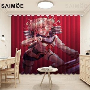 Curtain & Drapes SAIMOE Cartoon Anime Curtains Sexy Female Warrior Living Room My Hero Academia Bedroom Ultra Thin Micro Shading